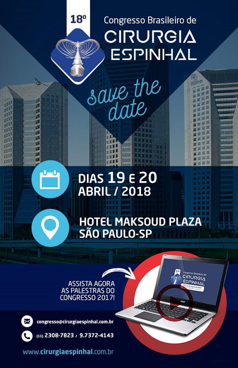 18º Congresso Brasileiro de Cirurgia Espinhal