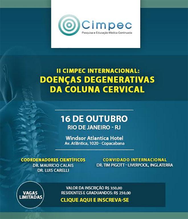 II Cimpec Internacional: Doenças Degenerativas da Coluna Cervical