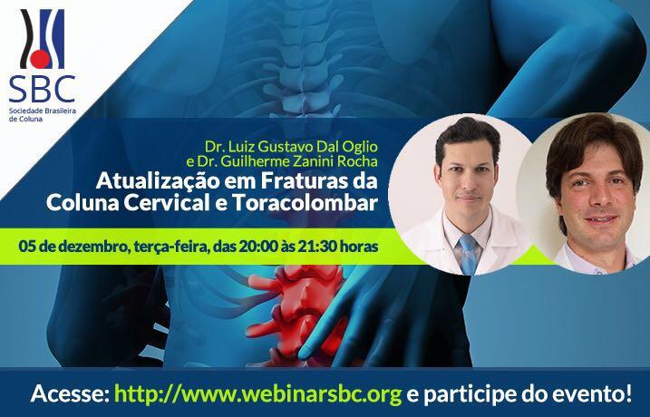 Atualização em Fraturas da Coluna Cervical e Toracolombar (Dia 05 de dezembro às 20h - AO VIVO!)